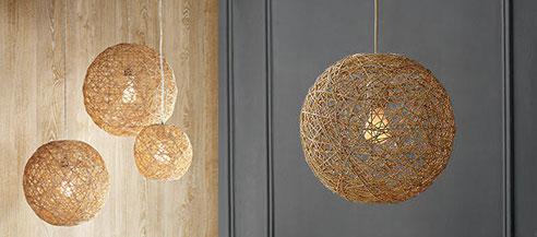 West Elm's Abaca pendant lamps, photo