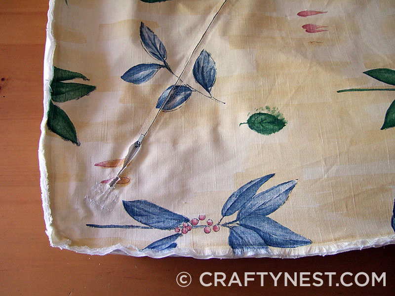 Sew on bottom of cushion cover, photo
