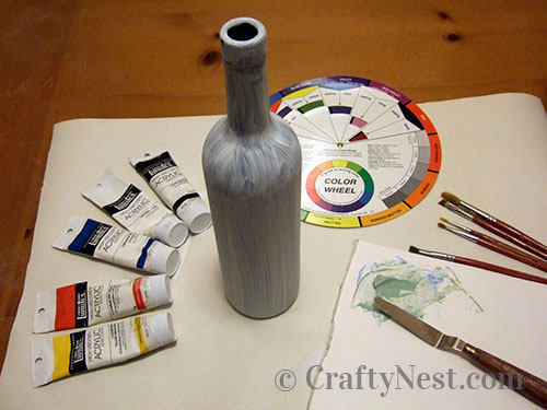 Paints and brushes for painting, photo