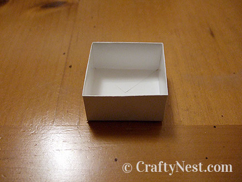 Folding a box, step 7, photo