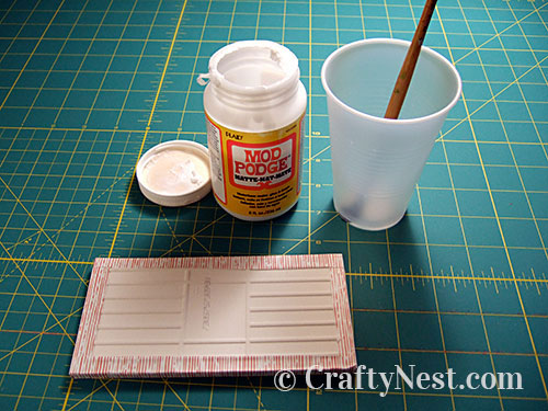 Glue edges of the wrap, photo