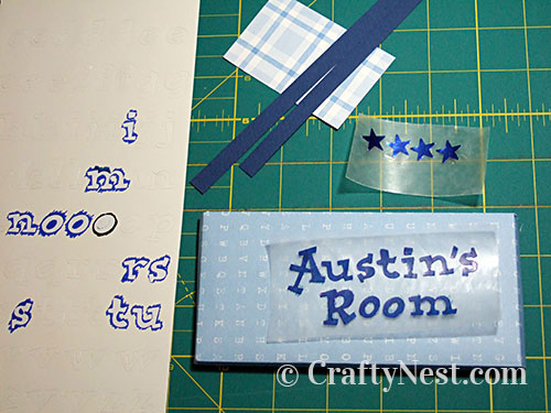 Lay out letters on wax paper, photo
