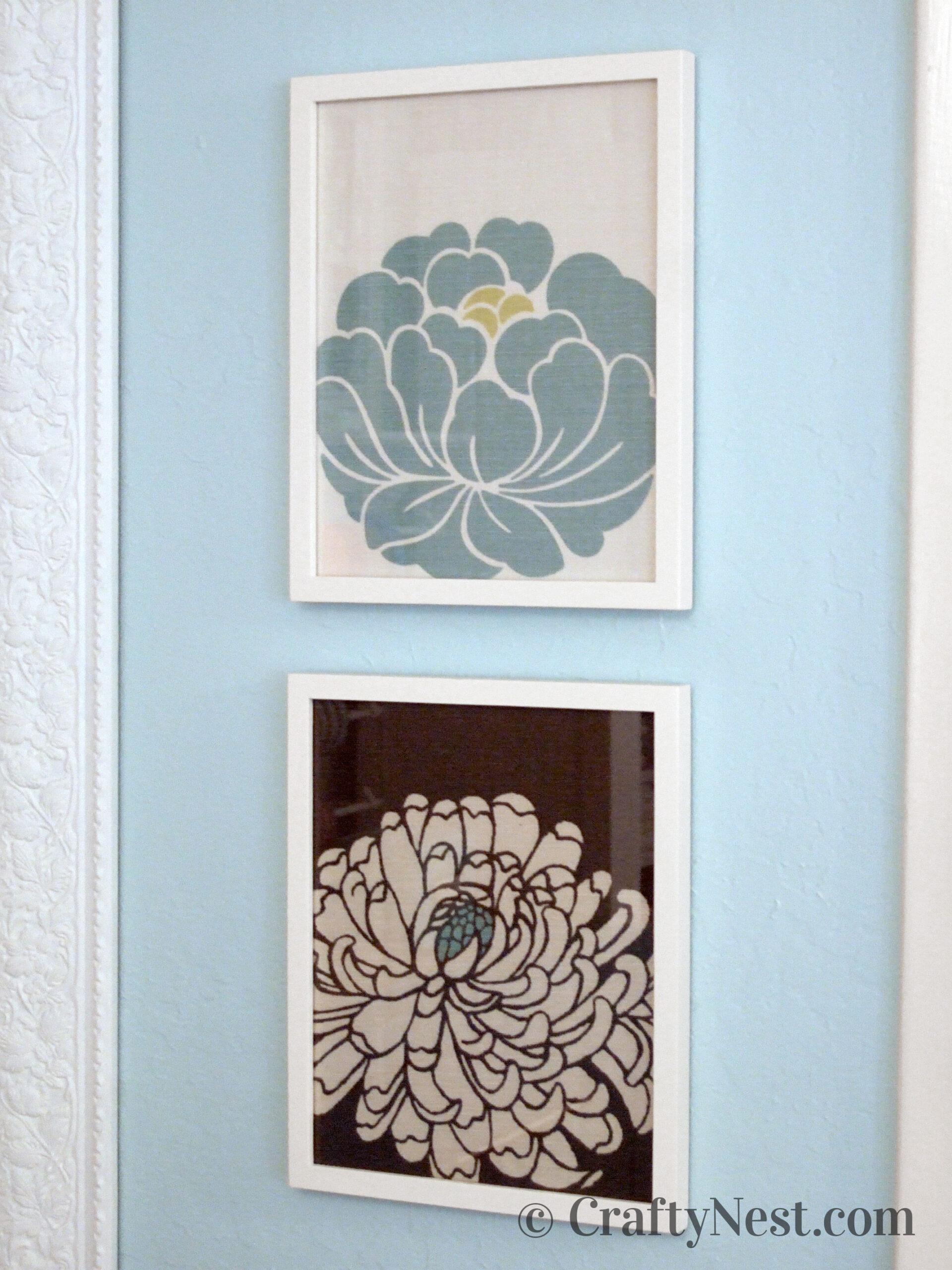 Framed flowers, photo