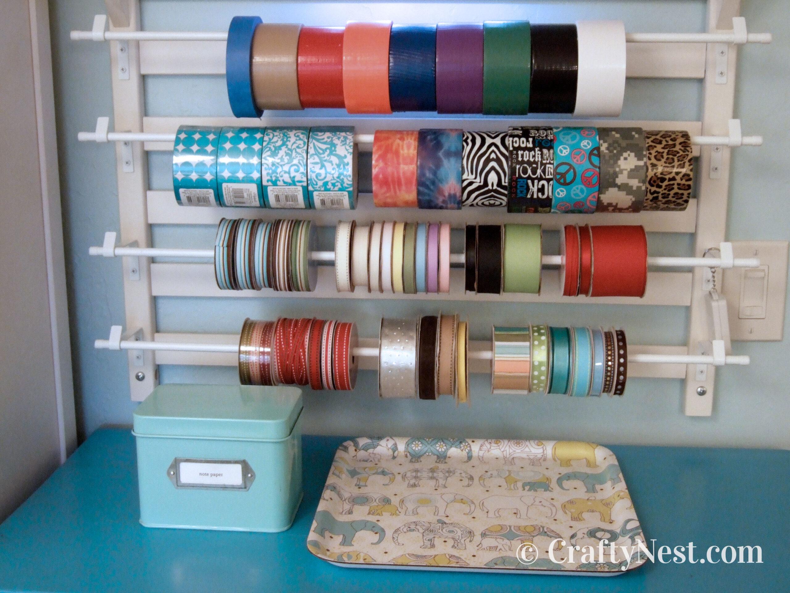 Craft tool rack closeup, photo