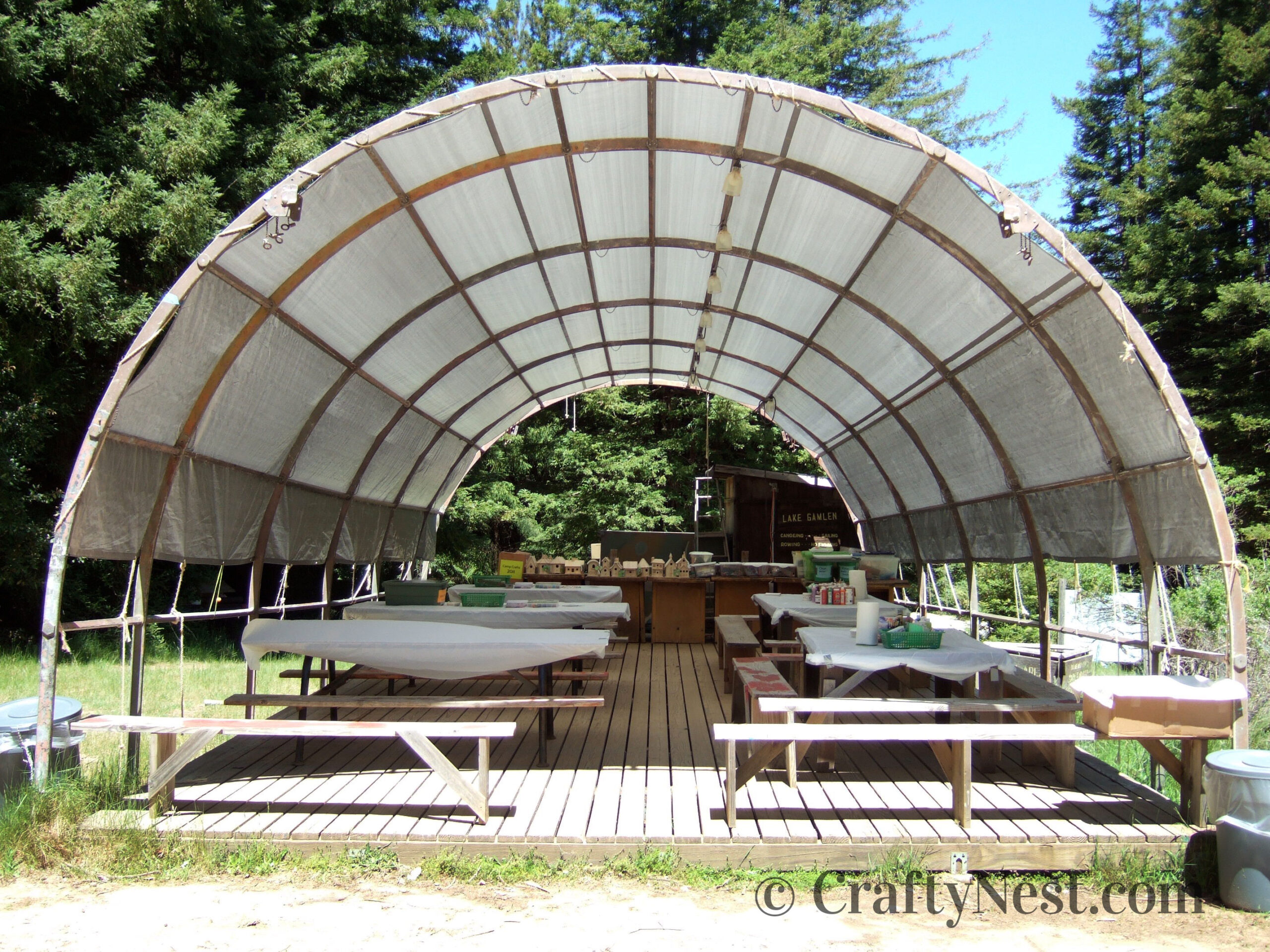 Quonset hut craft area, photo