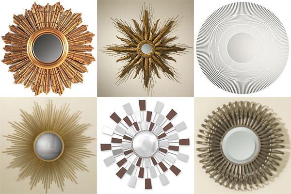 Collage of sunburst mirrors, photo