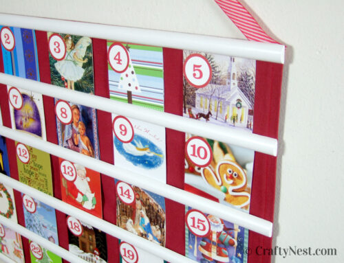 Recycled Christmas card advent calendar