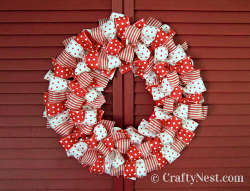 Easy holiday ribbon wreath