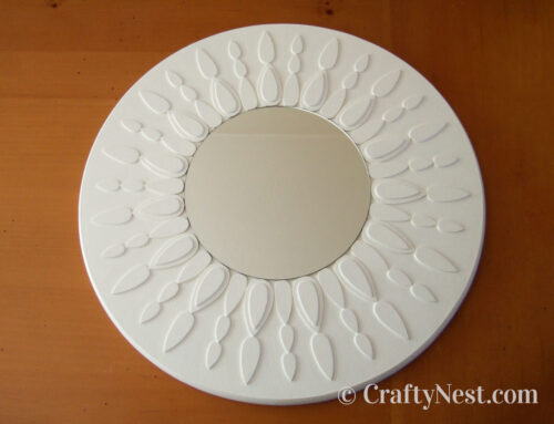 DIY Lazy Susan = sunburst mirror
