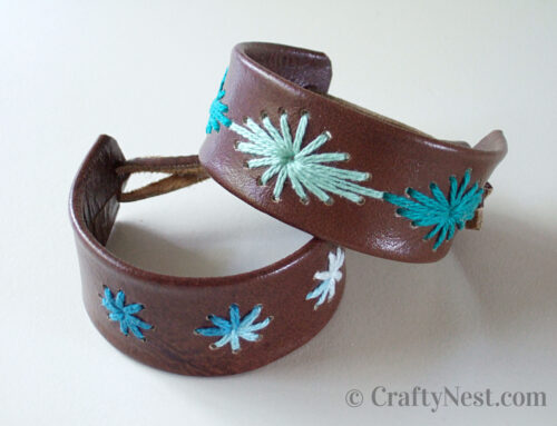 Camp craft: stitched leather bracelets