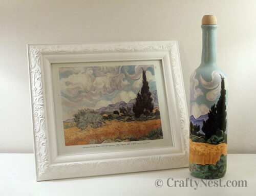 Paint a Van Gogh on a wine bottle