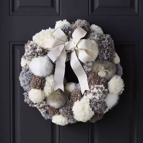 Joann crafts pom pom wreath, photo