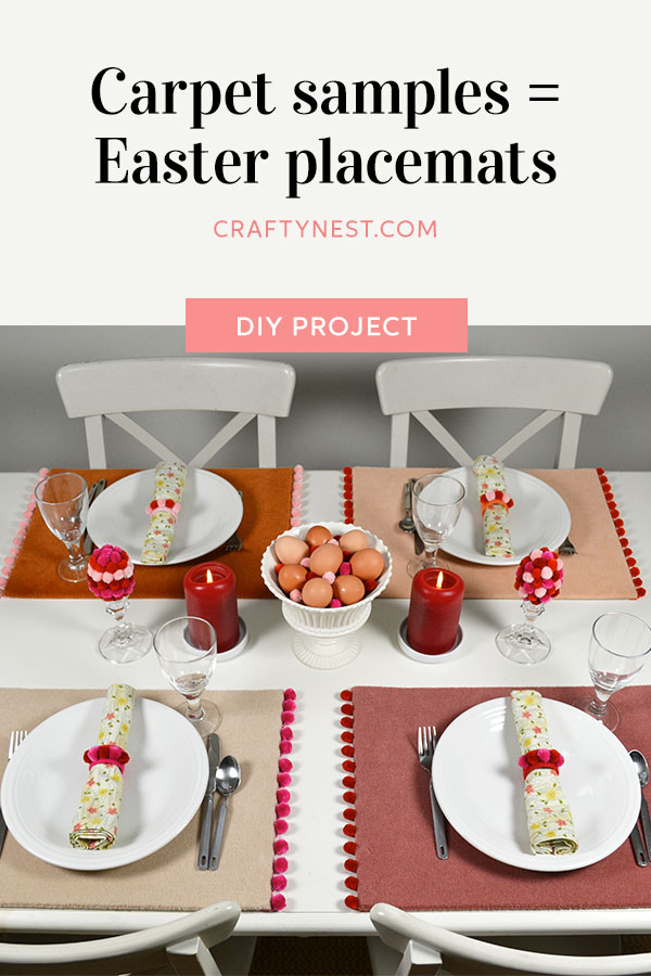Crafty Nest capet sample Easter placemats Pinterest image