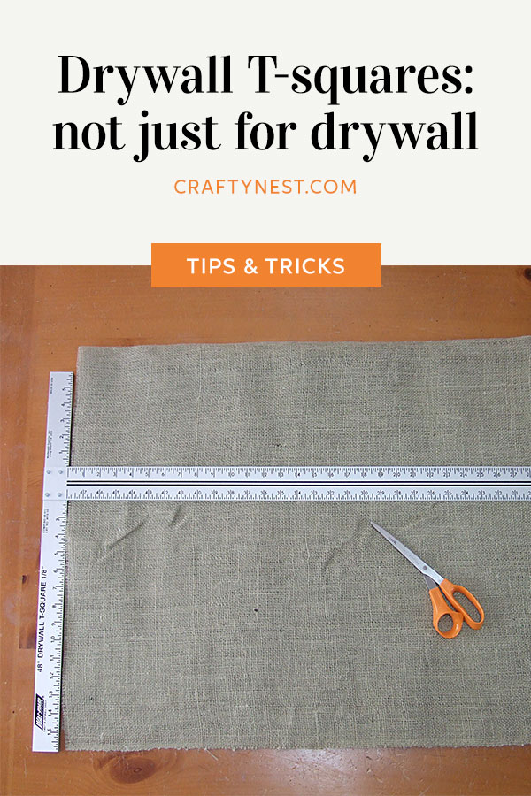 Crafty Nest drywall T-square Pinterest photo