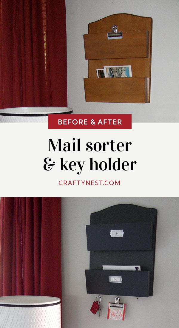Crafty Nest mail sorter and key holder Pinterest image