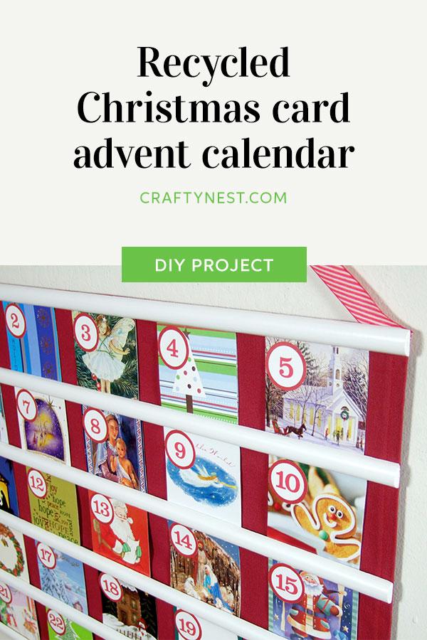 Crafty Nest recycled Christmas card advent calendar, photo