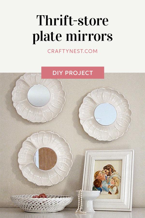 Crafty Nest thrift store plate mirros Pinterest photo