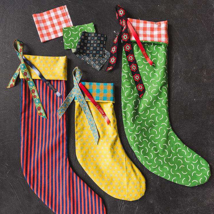 Three Christmas stockings, photo