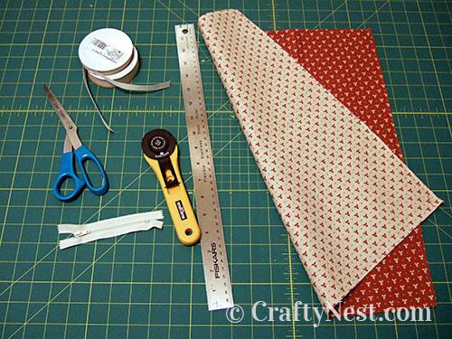Supplies to make the handbag set. photo