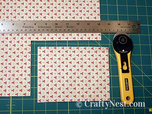 Cutting the fabric, photo