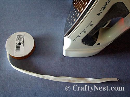 Ironing the ribbon, photo