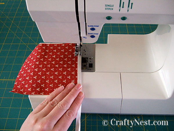 Sewing the pieces, photo