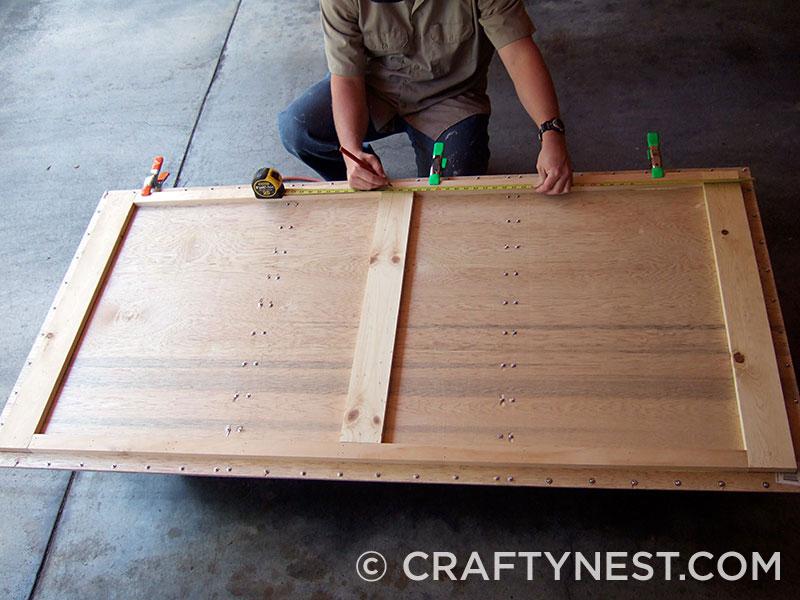 Back framing of magnet board, photo