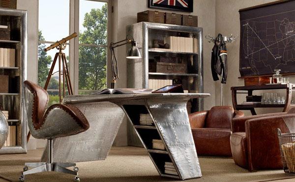 Restoration Hardware Aviator Collection furniture, photo
