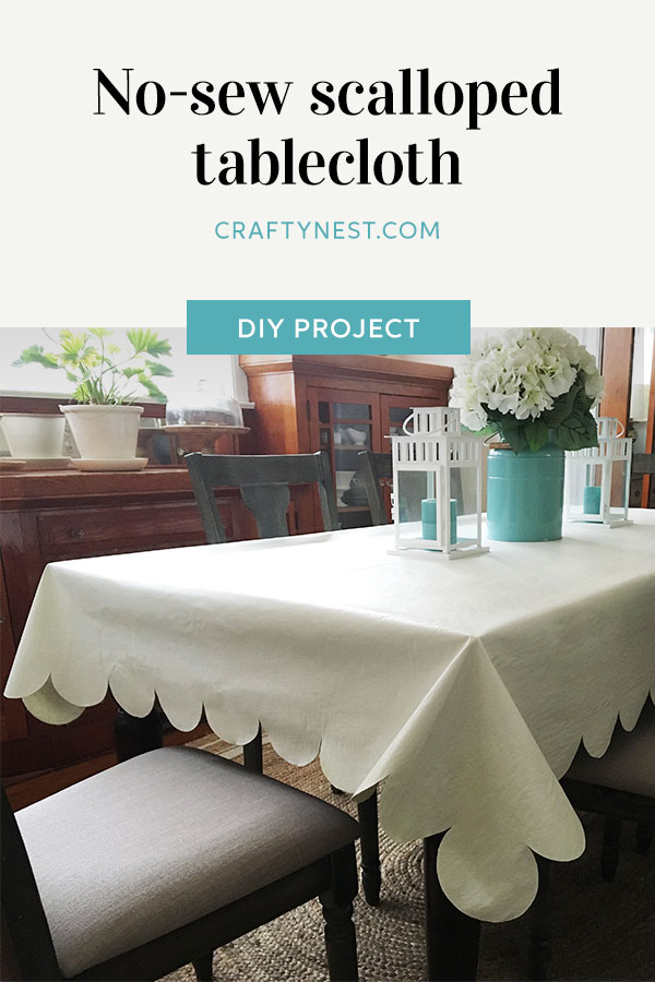 Crafty Nest no-sew scalloped table cloth Pinterest photo