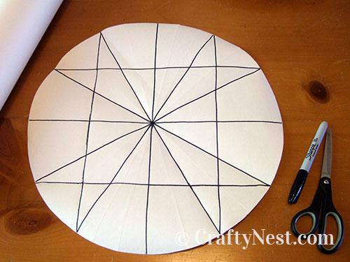 Mark 12 points along the circle, photo