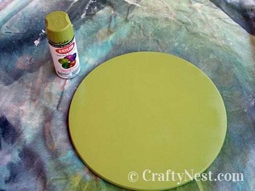 Spray paint the Lazy Susan, photo
