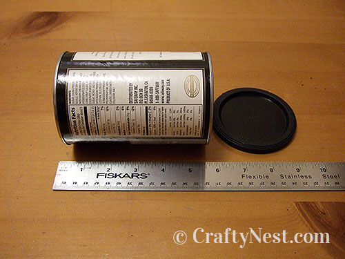Measure the can, photo
