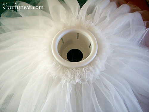 Wrap the tutu around the lamp, photo