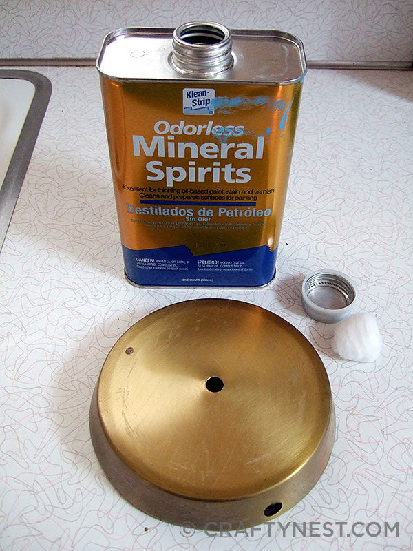 Clean the base with mineral spirits, photo