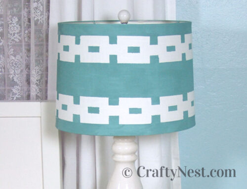 Painted lampshade + DIY finial