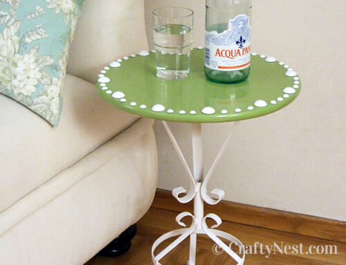 Plant stand + lazy Susan = mini side table