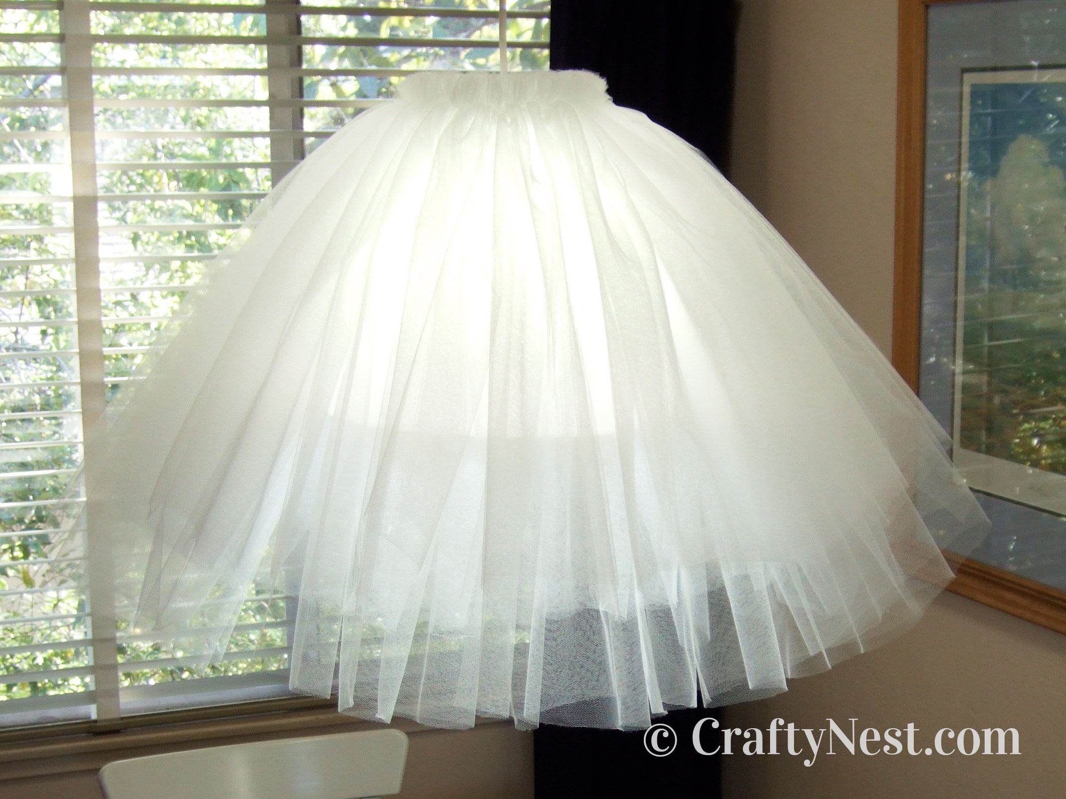 Tulle tutu pendant lamp, photo
