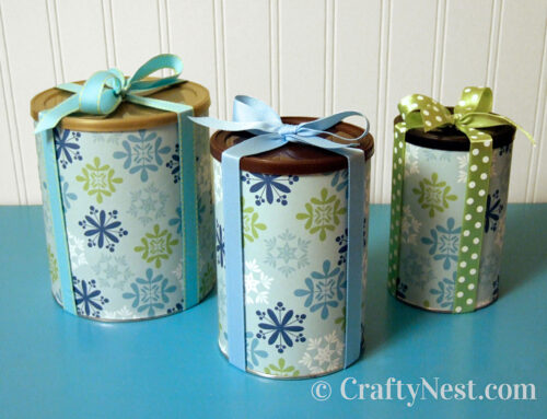 Reusable wrapped gift canisters