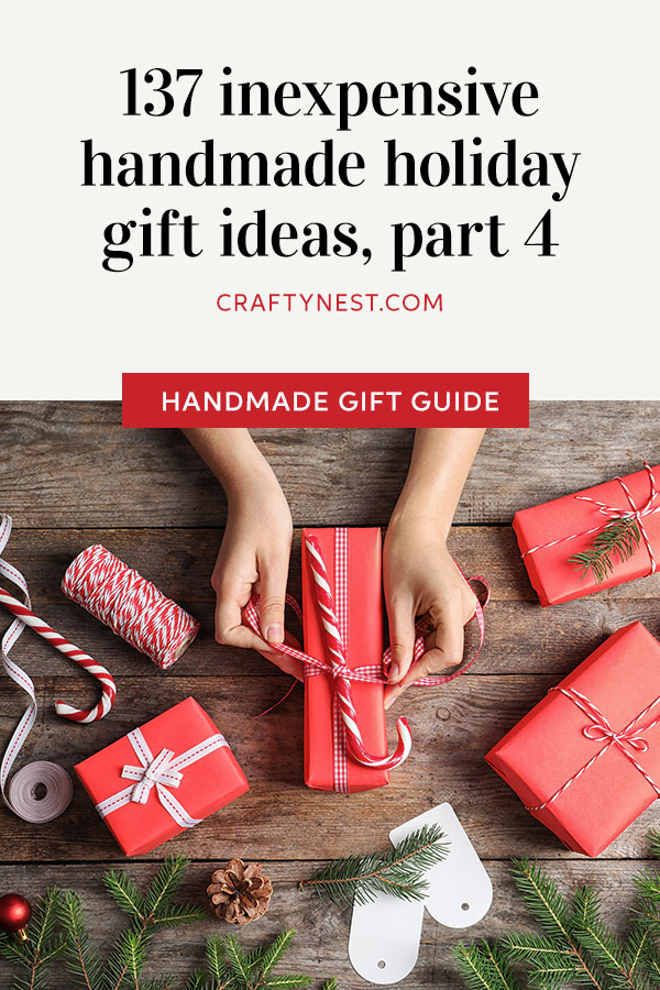 Crafty Nest inexpensive holiday gift ideas, part 4, Pinterest image