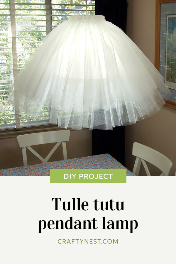 Crafty nest Tulle tutu pendant lamp Pinterest images