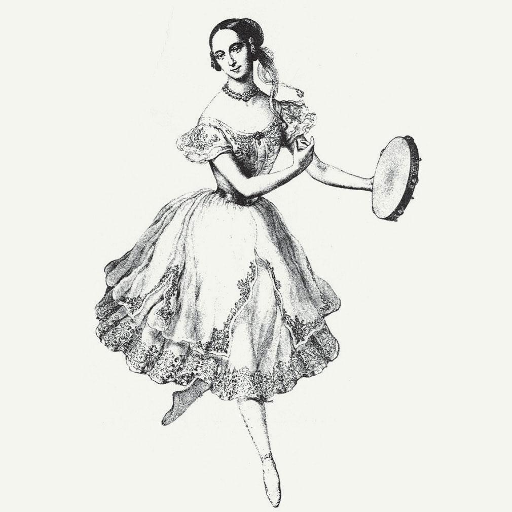 Spanish Dancer drawing, photo