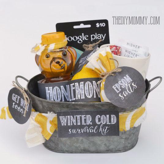 Winter cold survival kit. photo