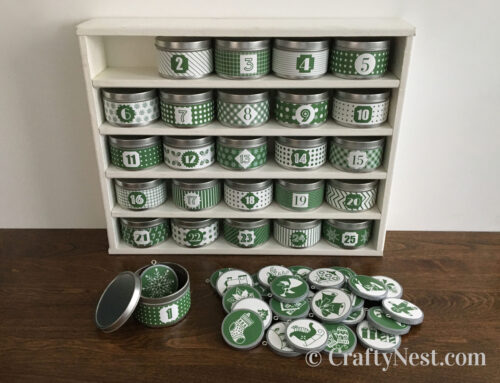 DIY advent calendar with tins & handmade ornaments