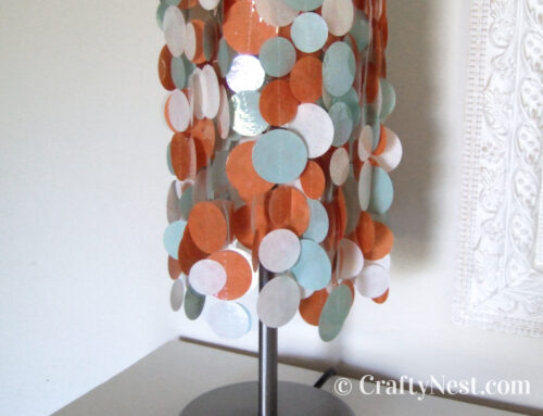 DIY colorful, funky lampshade