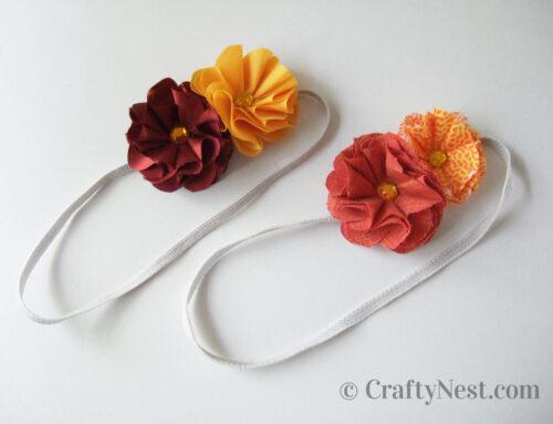 Camp craft: DIY fabric flower headbands & barrettes
