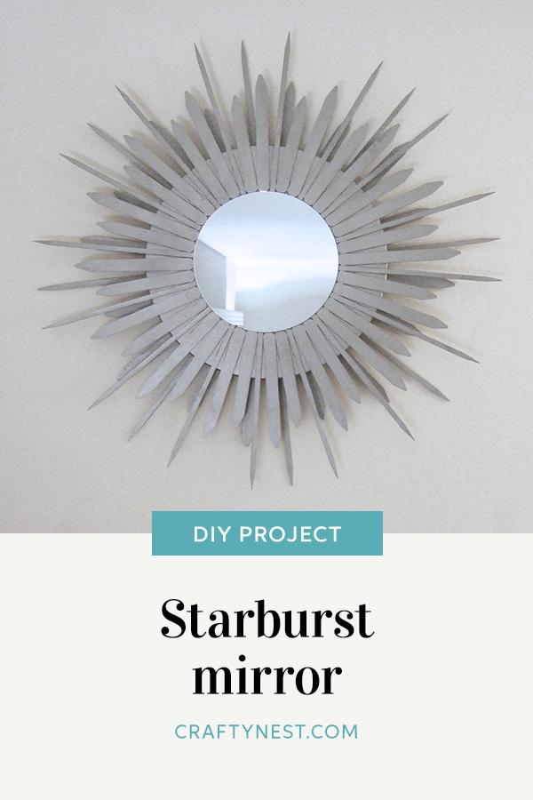 Crafty Nest starburst mirror Pinterest image