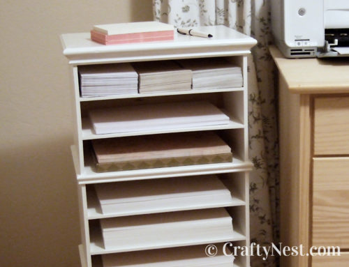 3 Ikea mini chests = DIY paper organizer