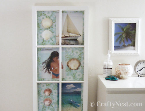 Salvaged window = DIY shadowbox frame