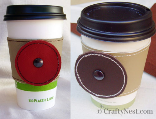 Isabela's DIY leather coffee sleeves + a giveaway
