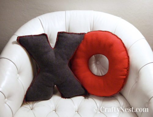 Camp craft: DIY fleece alphabet pillows